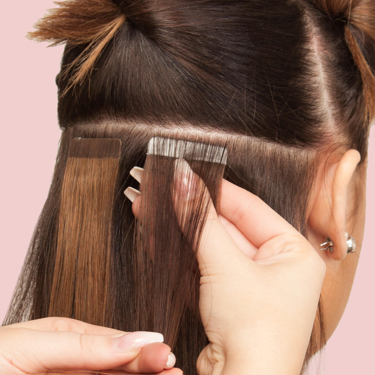 Tape extensions and shampoo