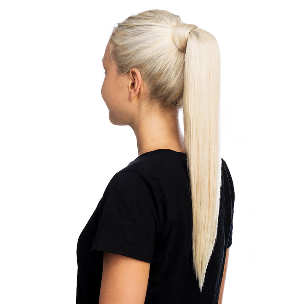 Rapunzel Clip In Ponytail O51108 Medium Ash Blond Ombre 40 Cm