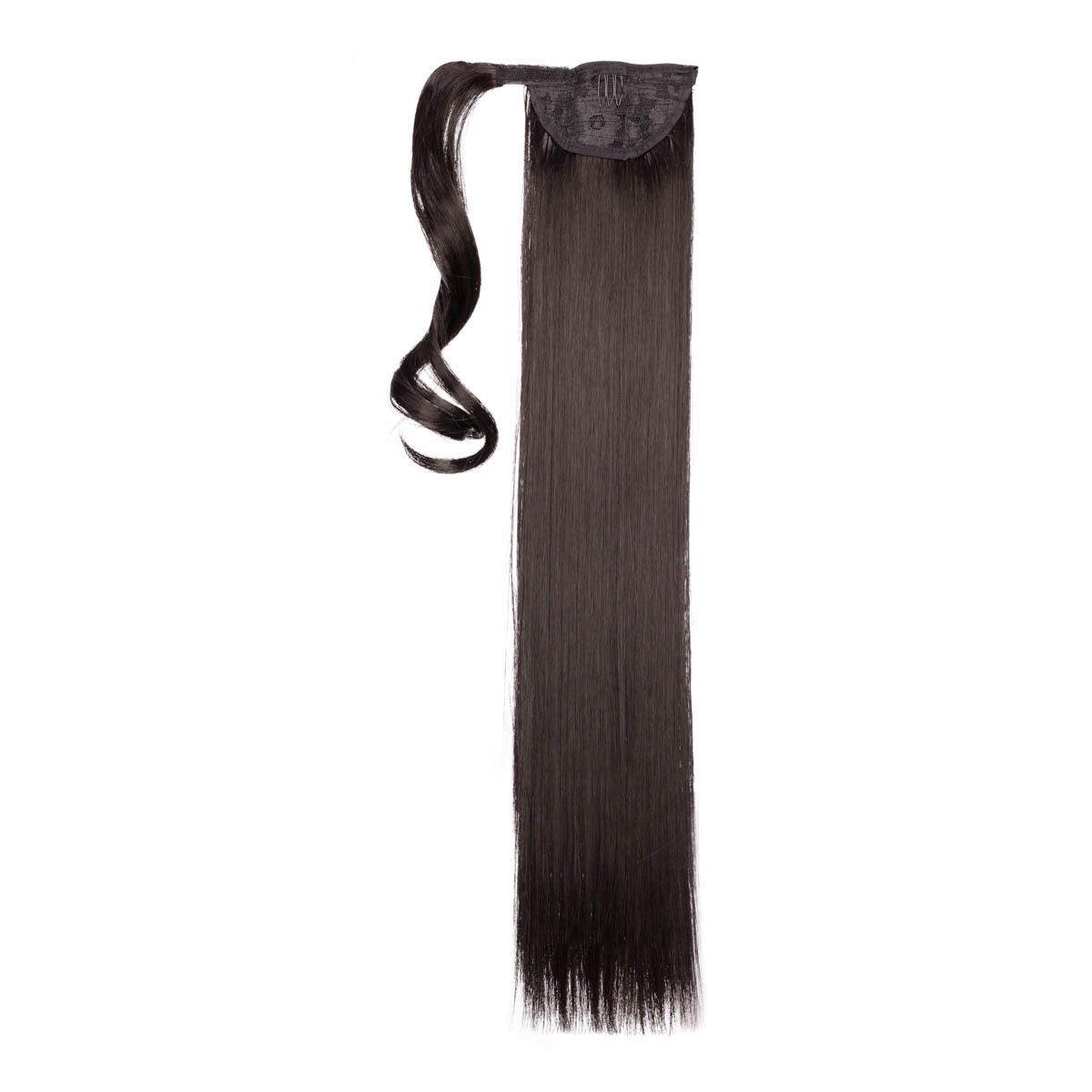 Clip-in Ponytail Synthetic 1.2 Black Brown 50 cm