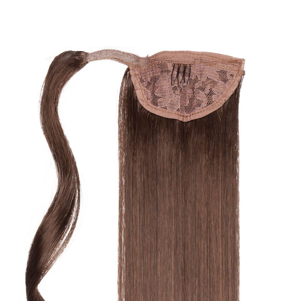 Clip-in Ponytail Synthetic 2.3 Chocolate Brown 50 cm