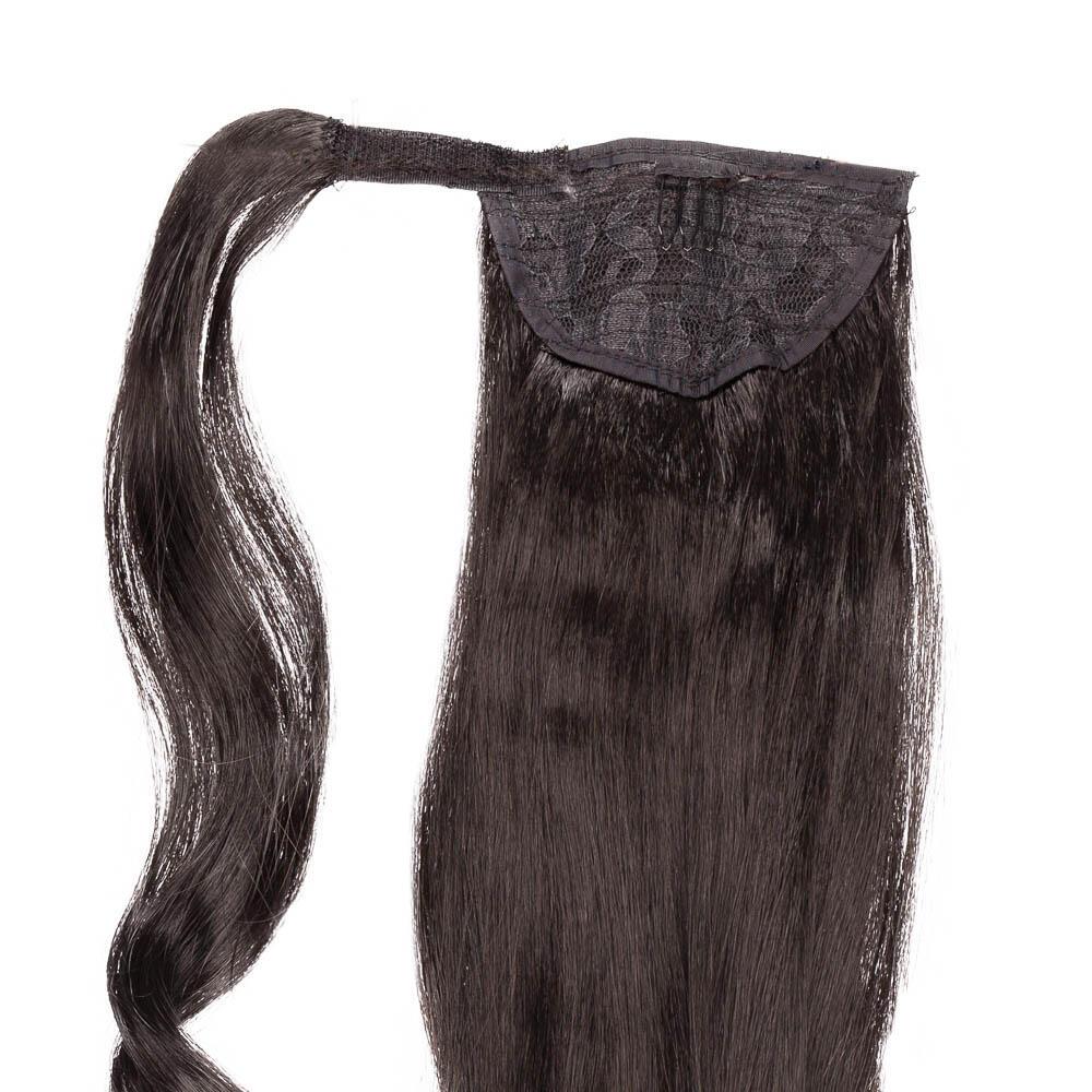 Clip-in Ponytail 1.2 Black Brown 50 cm