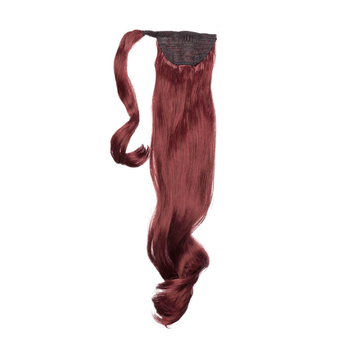 Clip-in Ponytail Synthetic Beach Wave 6.2 Dark Mahogany 50 cm