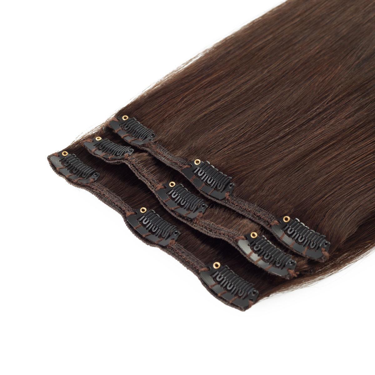 Clip-on set 2.3 Chocolate Brown 40 cm