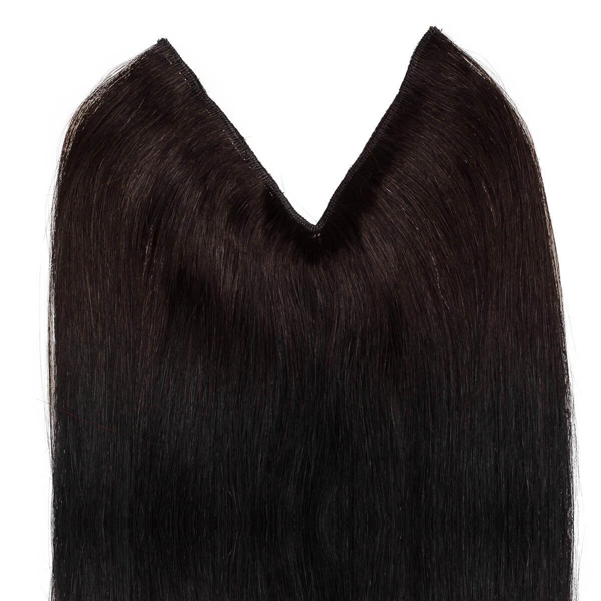 Easy Clip-in 1.2 Black Brown 50 cm
