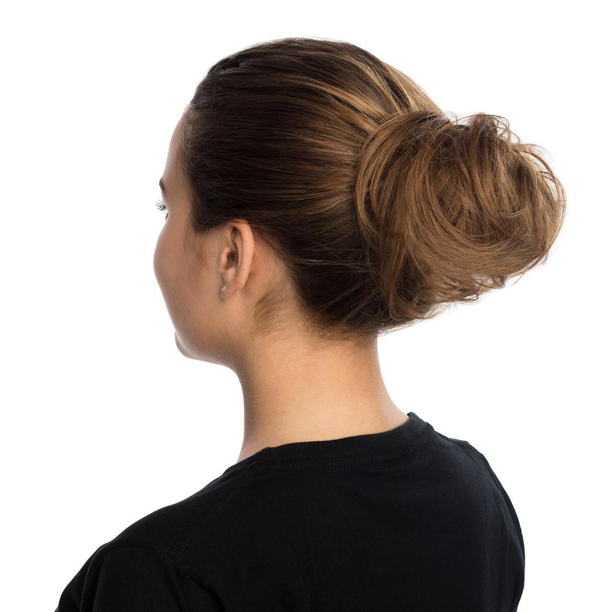 Hair Scrunchie 20 G Scrunchie with real hair 10.5 Grey