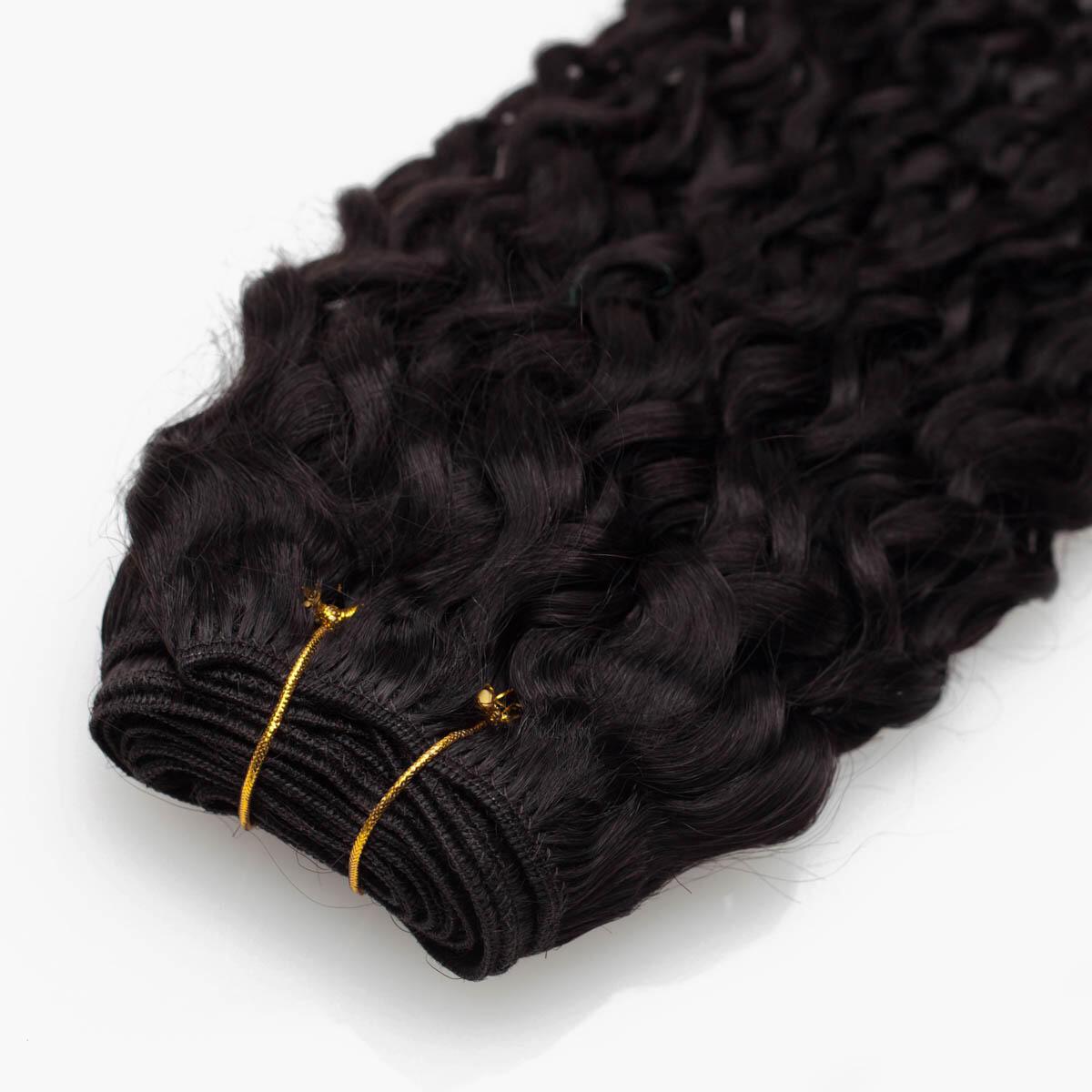Hair Weft 1.2 Black Brown 35 cm