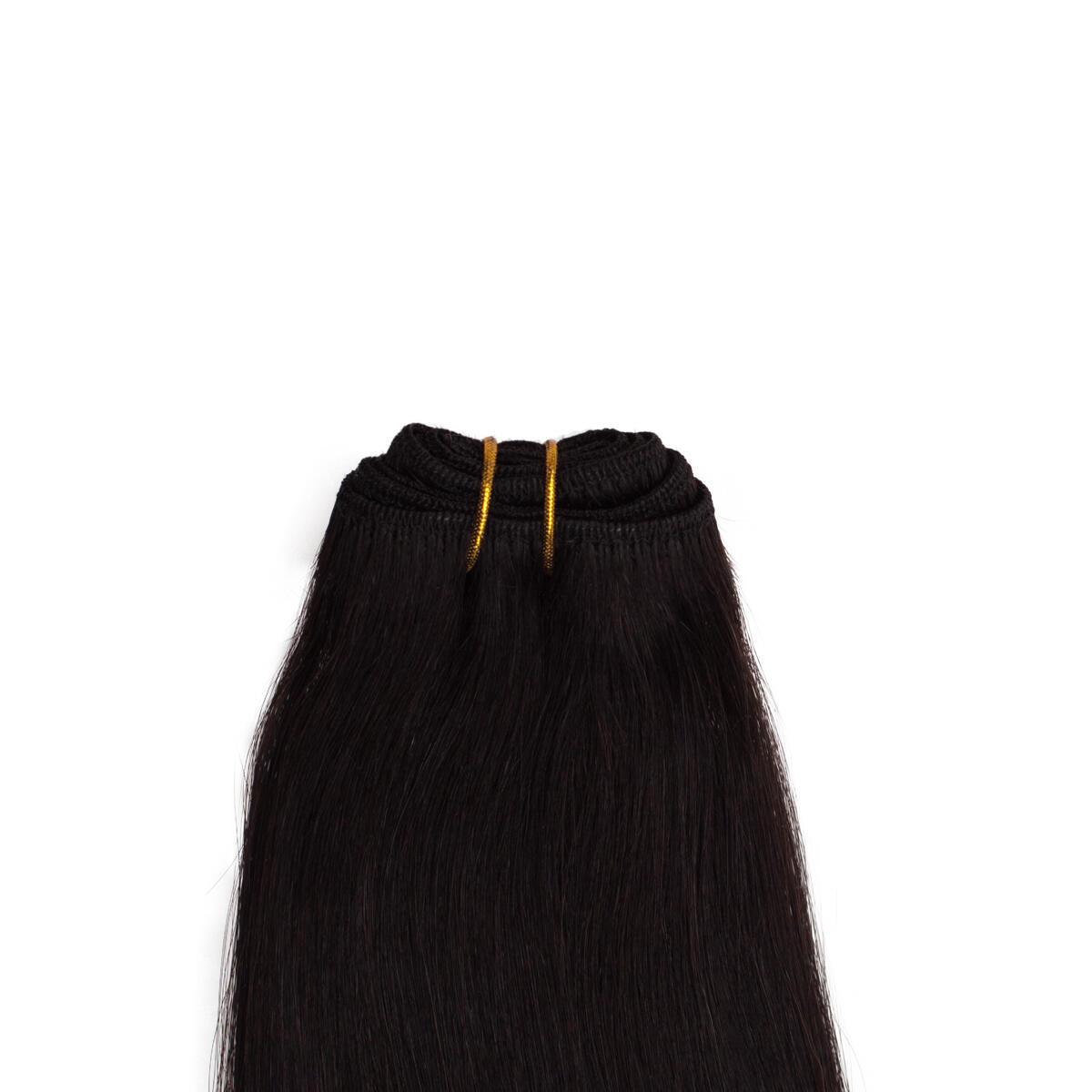 Hair Weft 1.2 Black Brown 50 cm