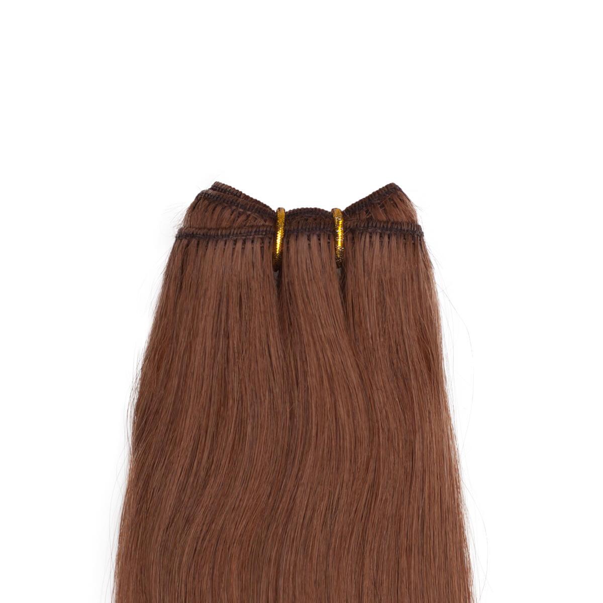 Hair Weft Premium 5.45 Dark Copper Brown 50 cm