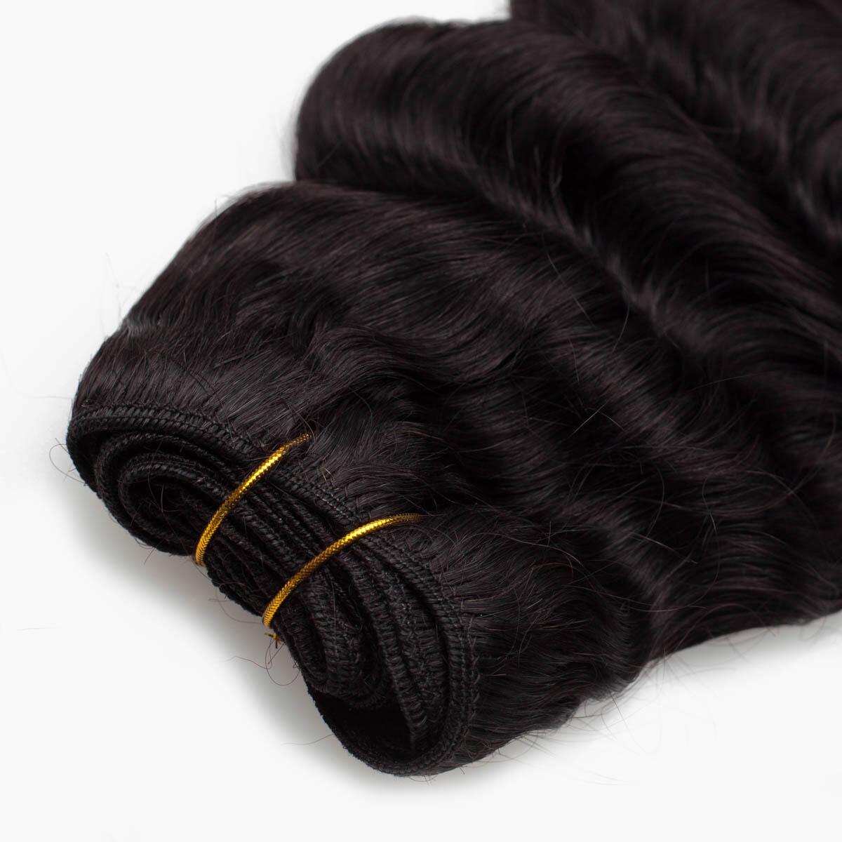 Hair Weft Soft Wave 1.2 Black Brown 45 cm