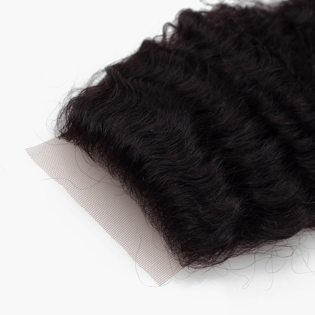 Lace Closure Curly Curls 1.2 Black Brown 35 cm
