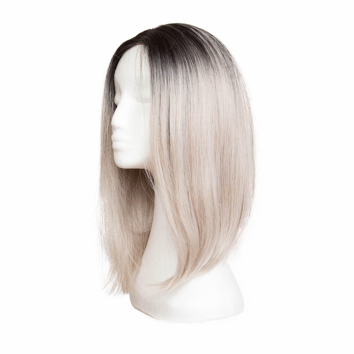 Lace Front Wig O1.2/10.5 Black Brown/Grey 40 cm