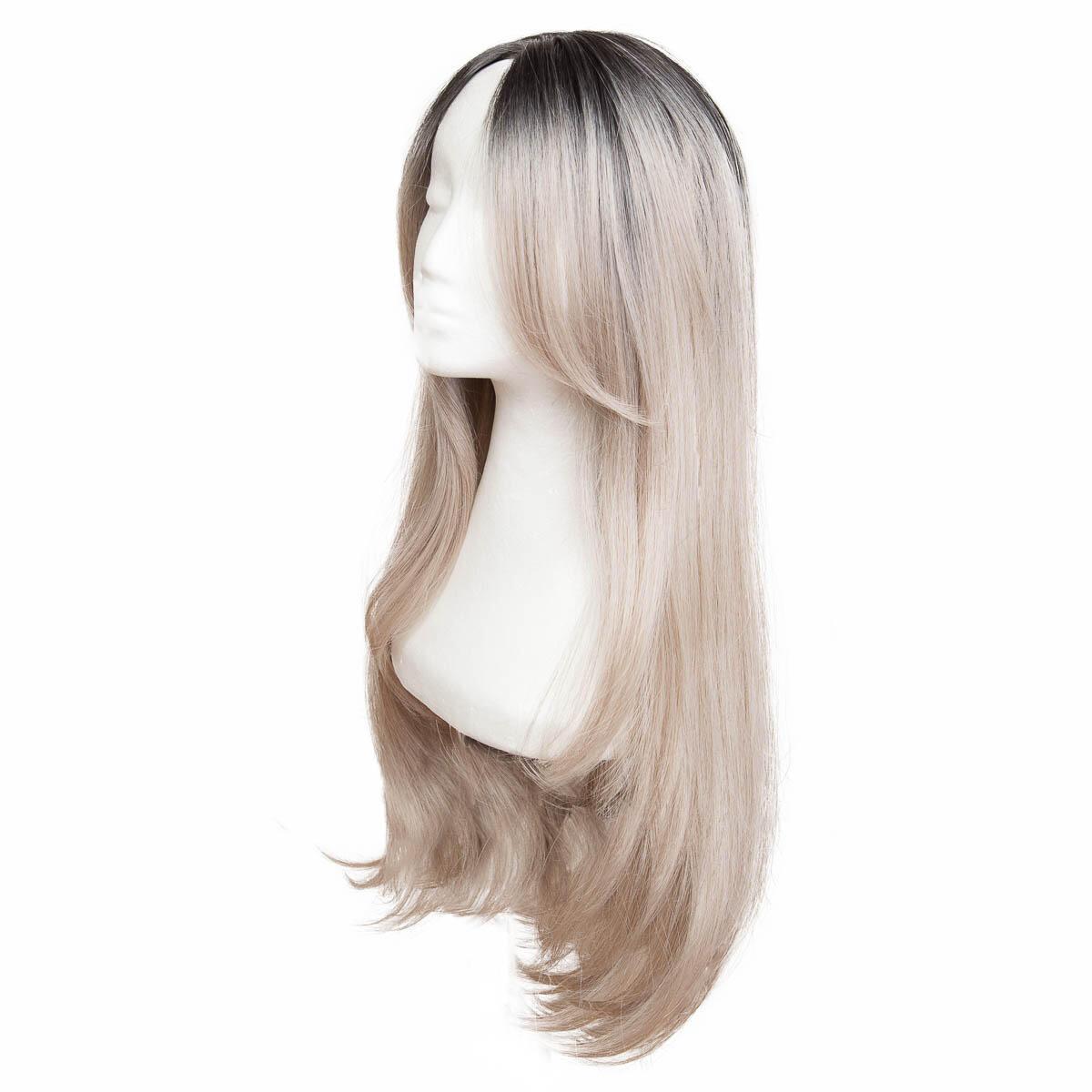 Lace Front Wig O1.2/10.5 Black Brown/Grey 60 cm