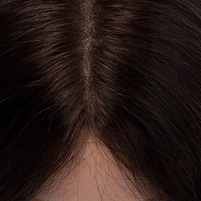 Lace Wig Human Hair 2.0 Dark Brown 30 cm