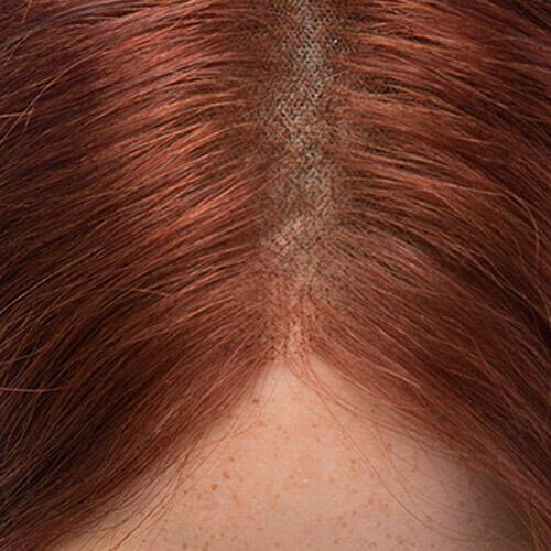 Lace Wig Human Hair 6.13 Mahogany 55 cm