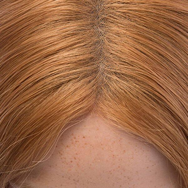 Lace Wig Human Hair 6.3 Copper 45 cm