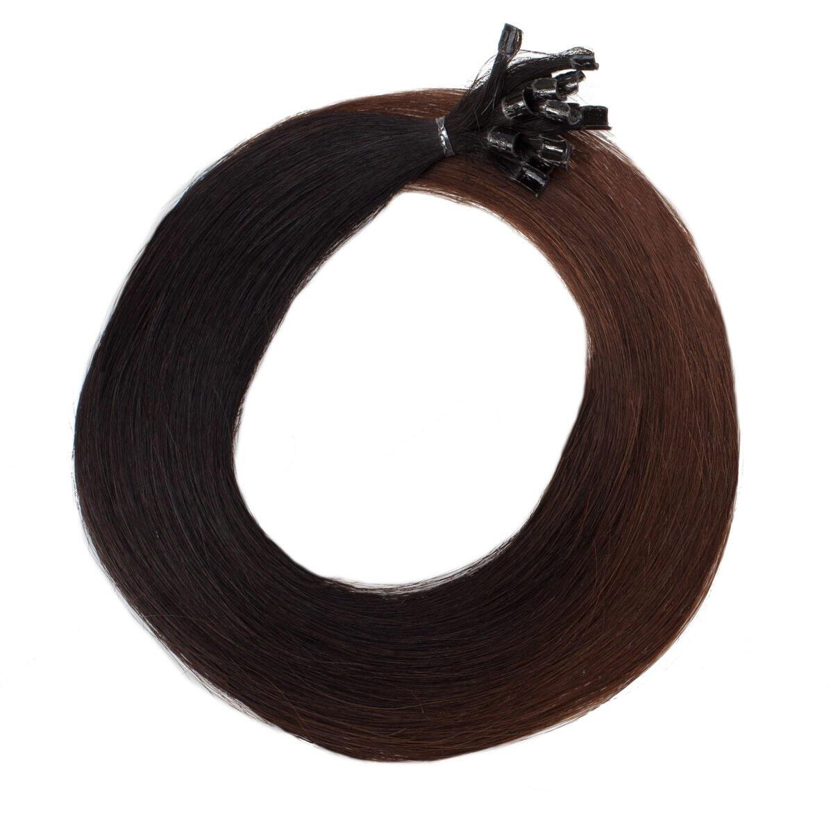 Nail Hair O1.2/2.0 Black Brown Ombre 50 cm