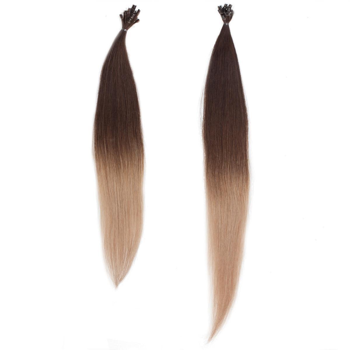Nail Hair Original O2.2/7.3 Brown Ash Ombre 40 cm