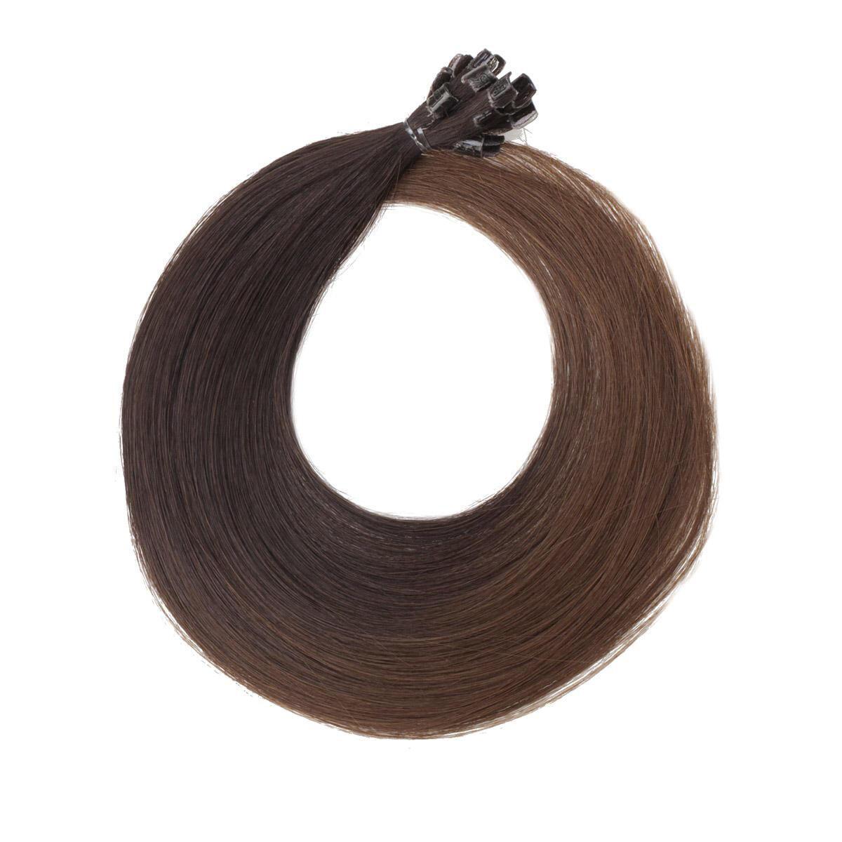 Nail Hair Original O2.3/5.0 Chocolate Brown Ombre 40 cm