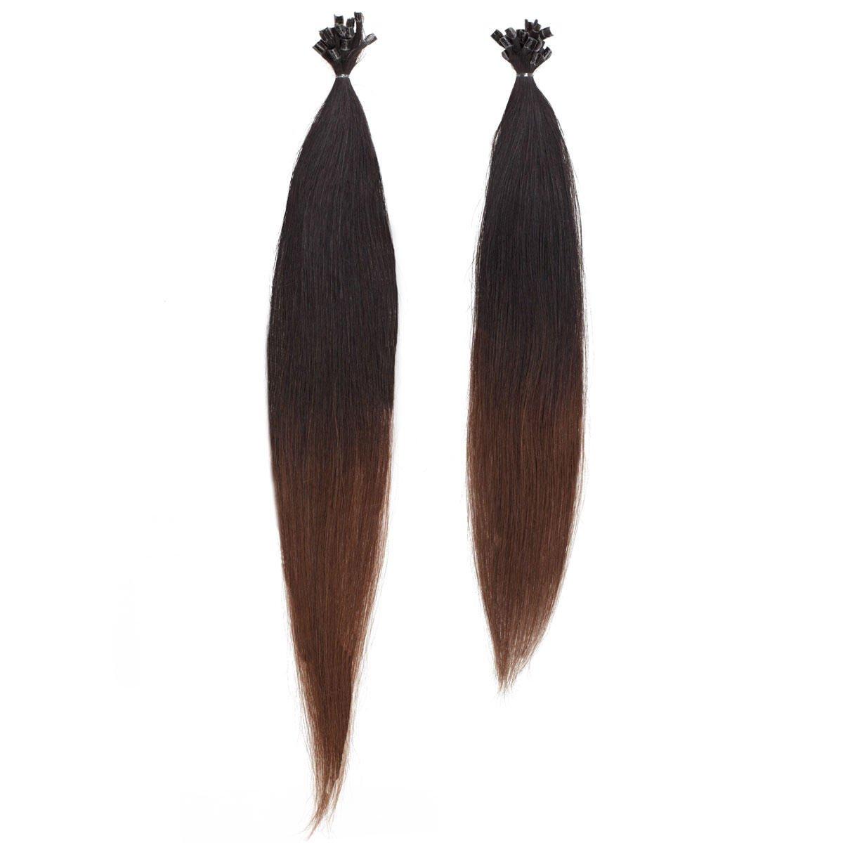 Nail Hair O1.2/2.0 Black Brown Ombre 40 cm