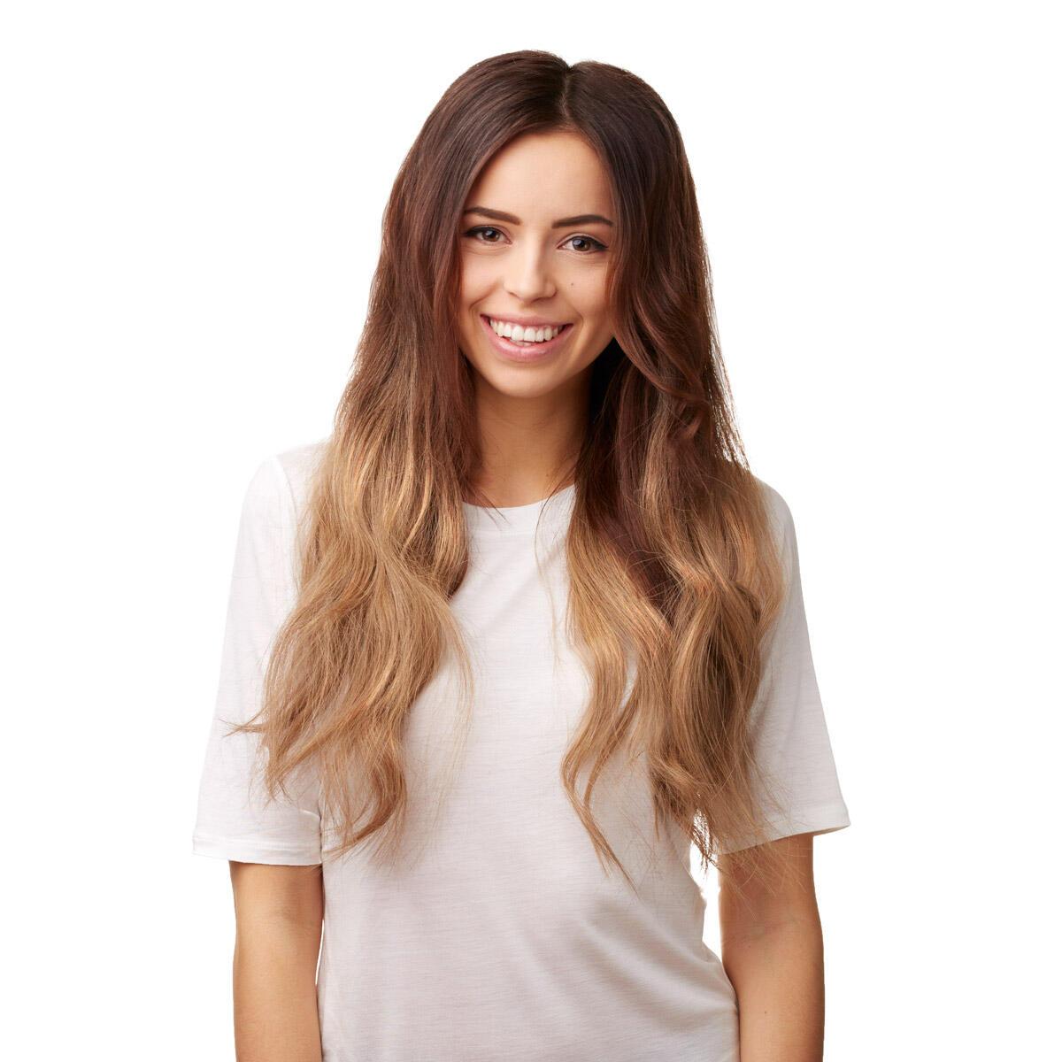 Nail Hair Premium O2.0/7.5 Medium Brown Ombre 40 cm