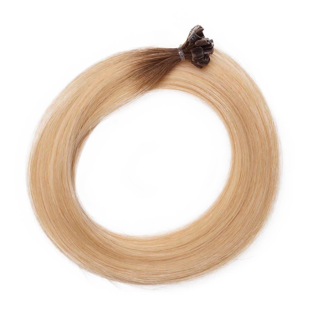 Nail Hair R5.0/8.3 Brown Honey Blonde Root 40 cm