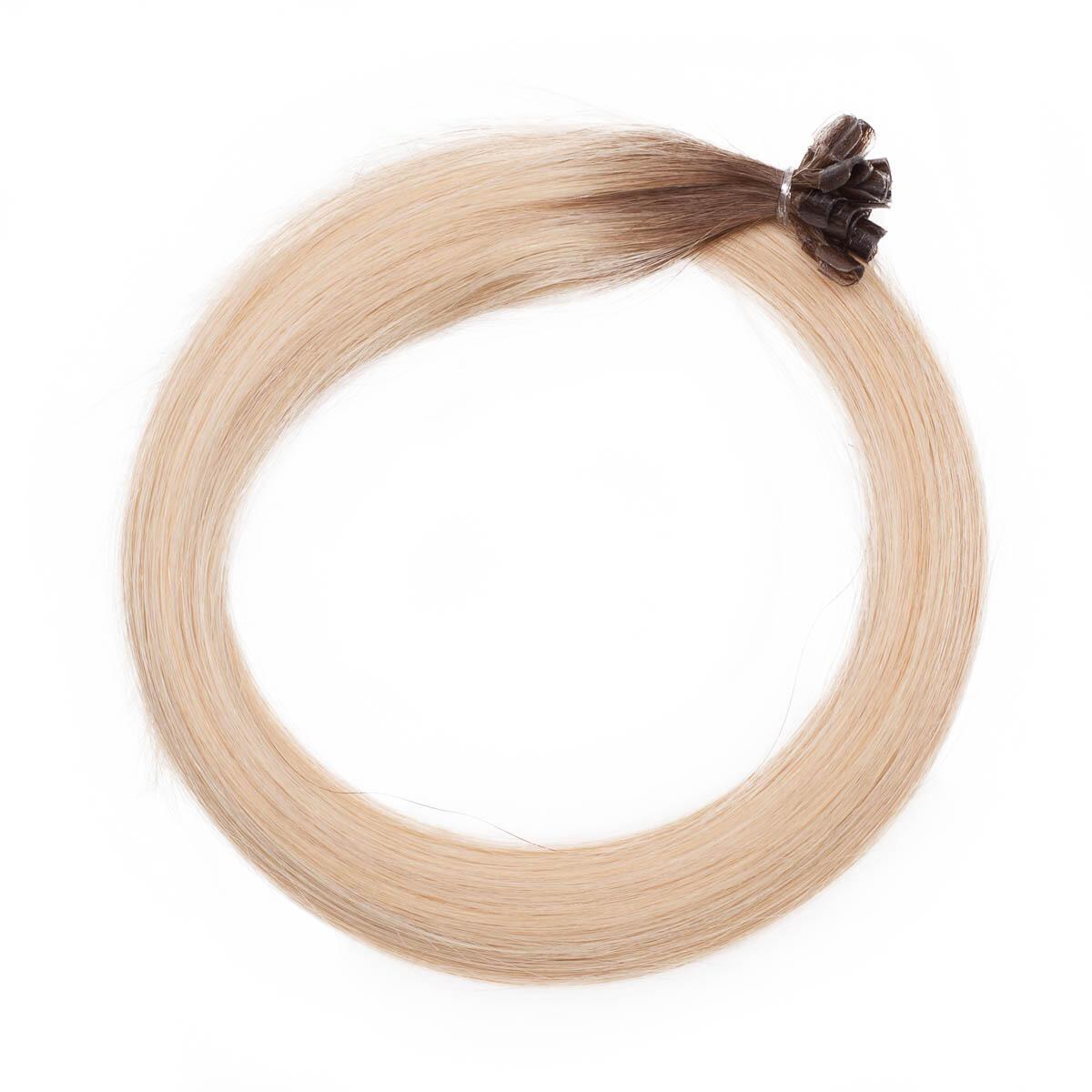 Nail Hair Premium R7.5/8.3 Ash Brown Honey Blonde 50 cm