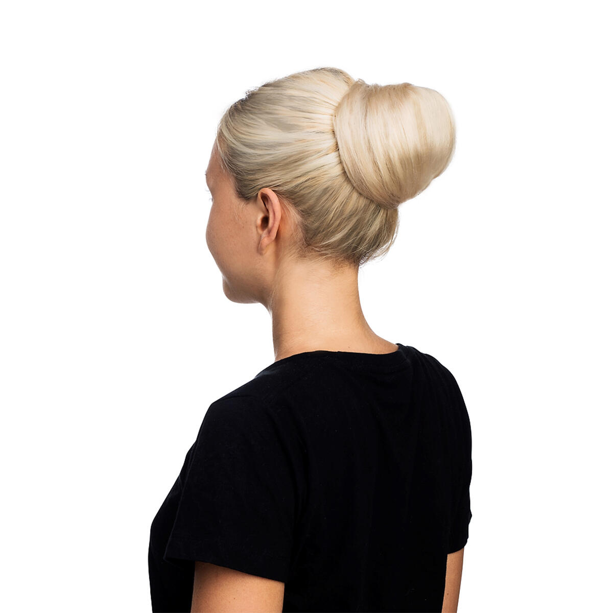 Volume Hair Scrunchie 40 G Scrunchie with real hair 1.2 Black Brown