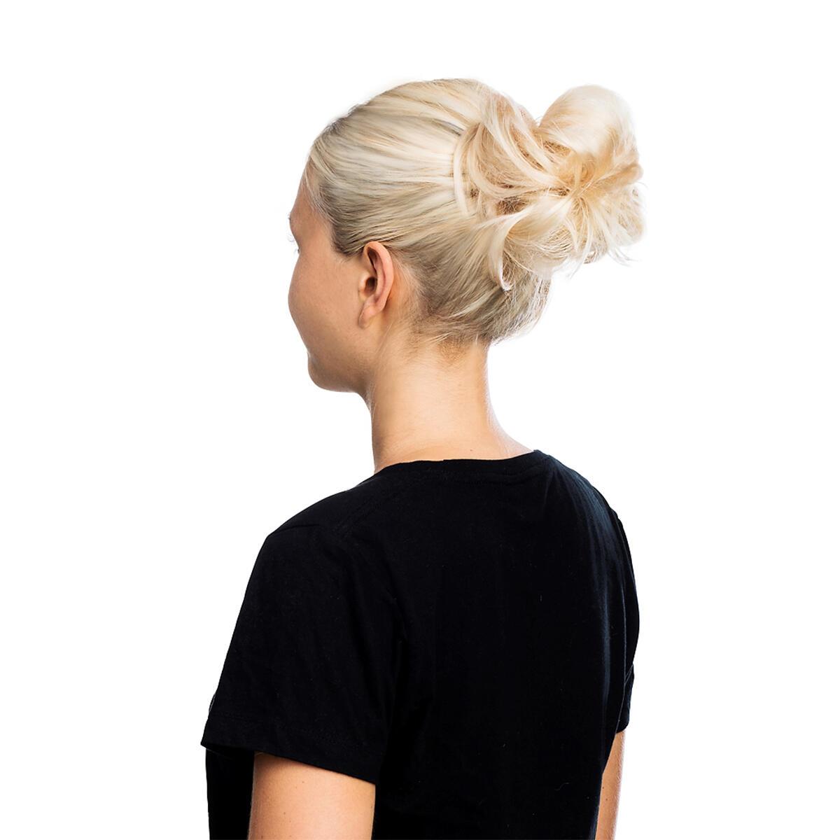 Volume Hair Scrunchie 40 G Scrunchie with real hair 2.0 Dark Brown
