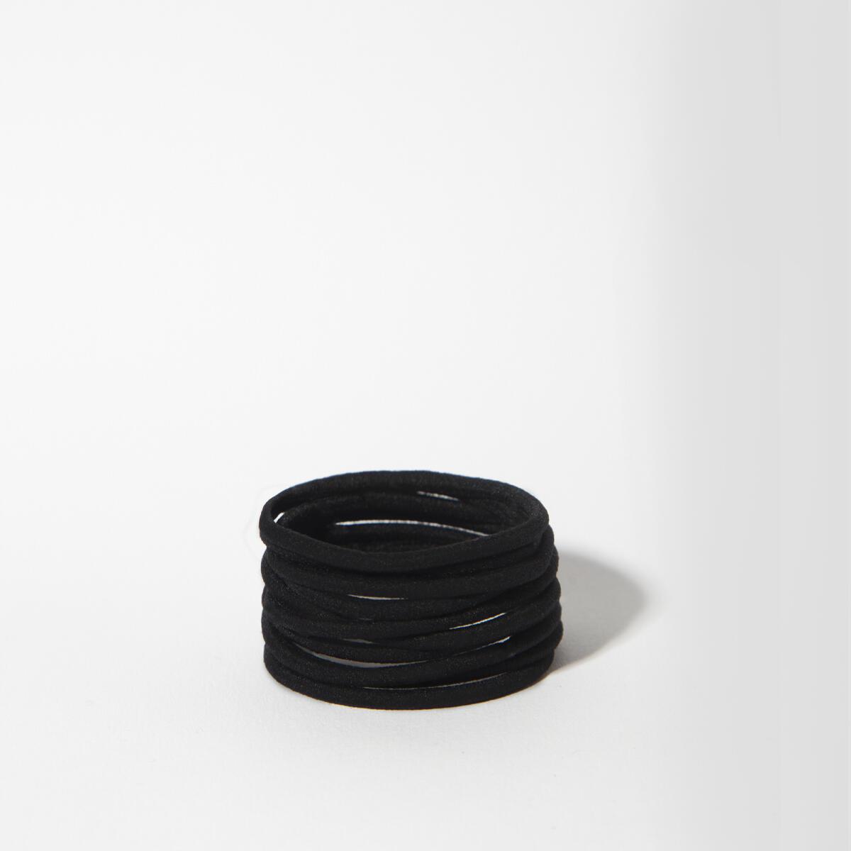 Elastic hair ties Black