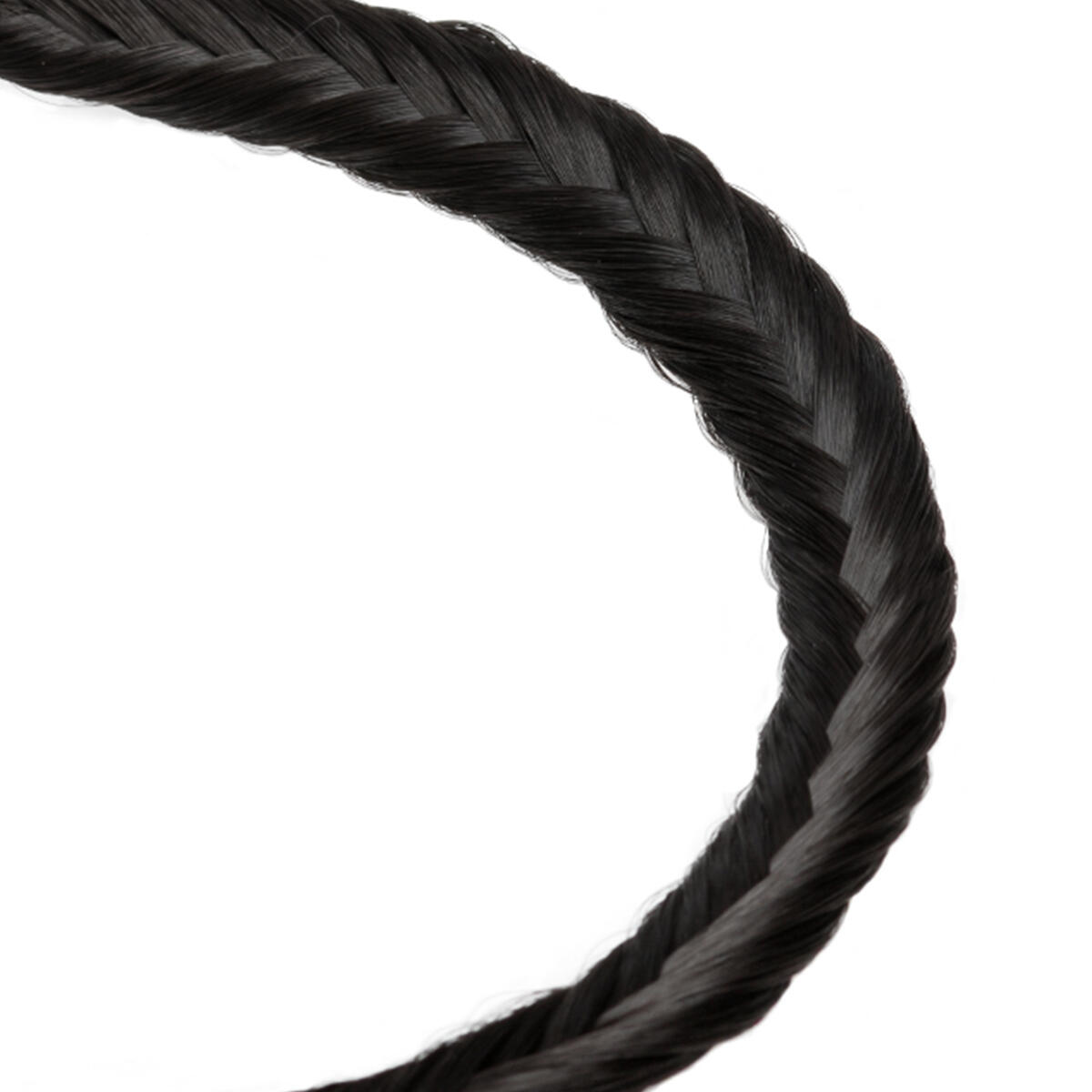 Synthetic Braided Headband 1.2 Black Brown 0 cm