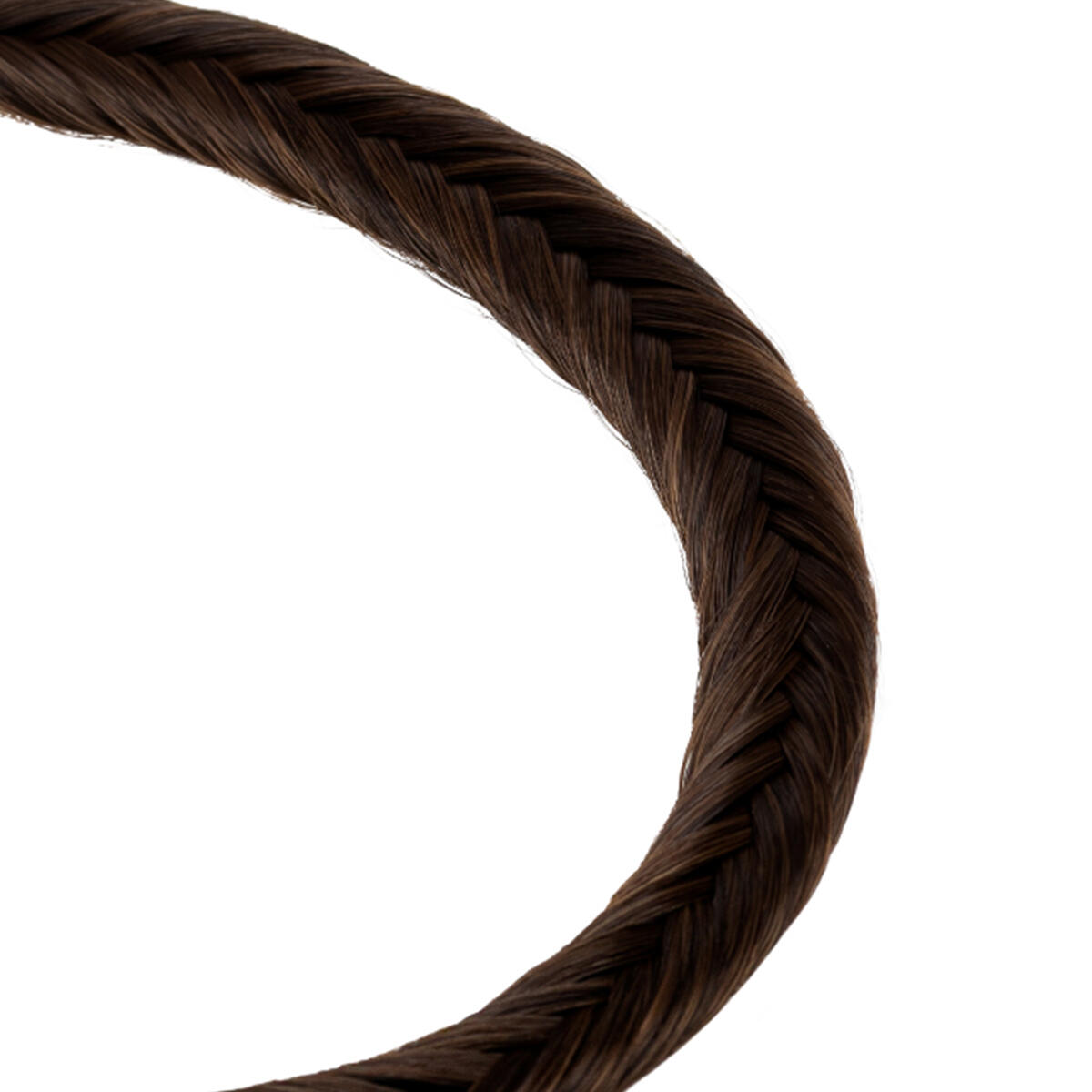 Synthetic Braided Headband 2.2 Coffee Brown 0 cm
