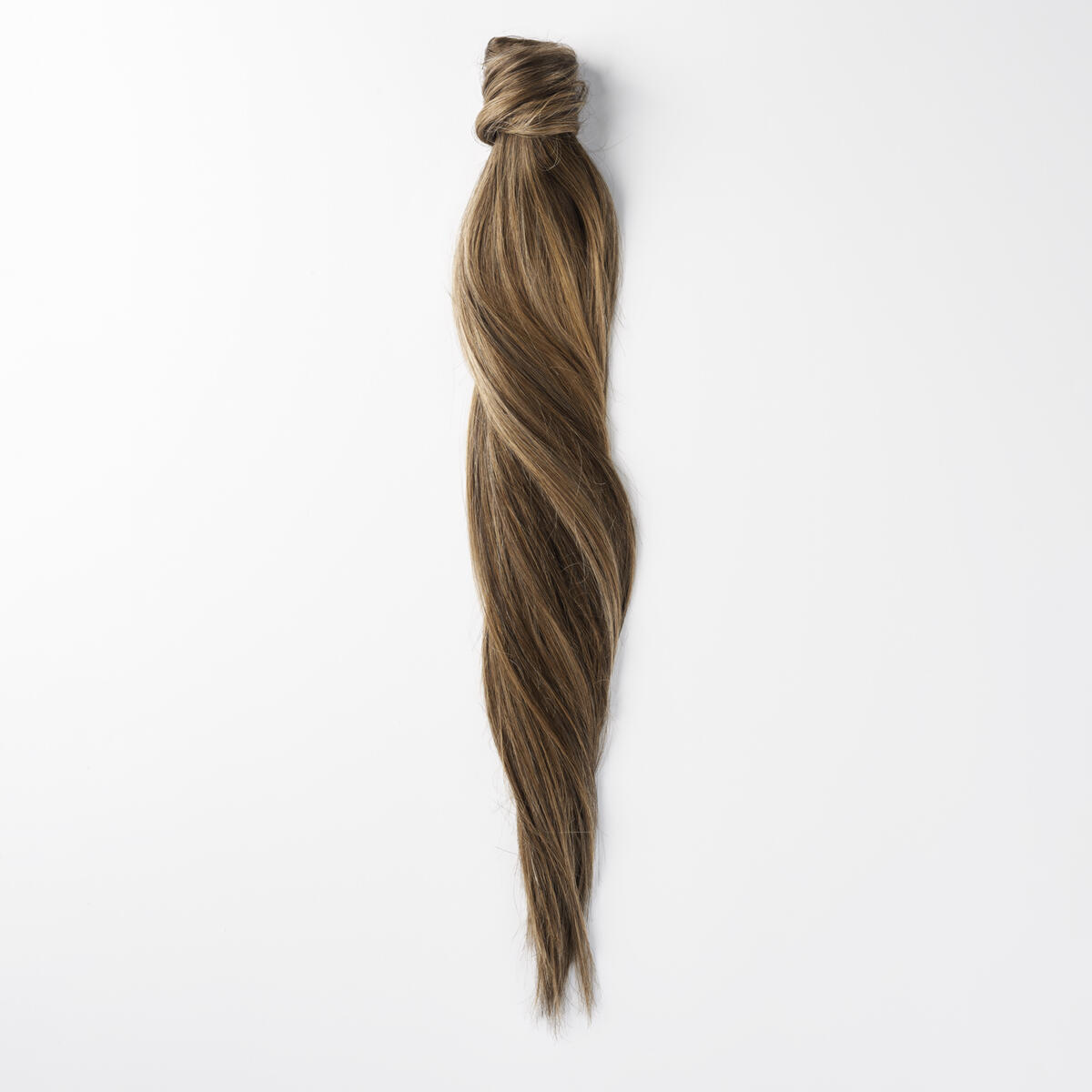 Clip-in Ponytail Ponytail made of real hair B2.3/5.0 Hazelnut Caramel Balayage 50 cm