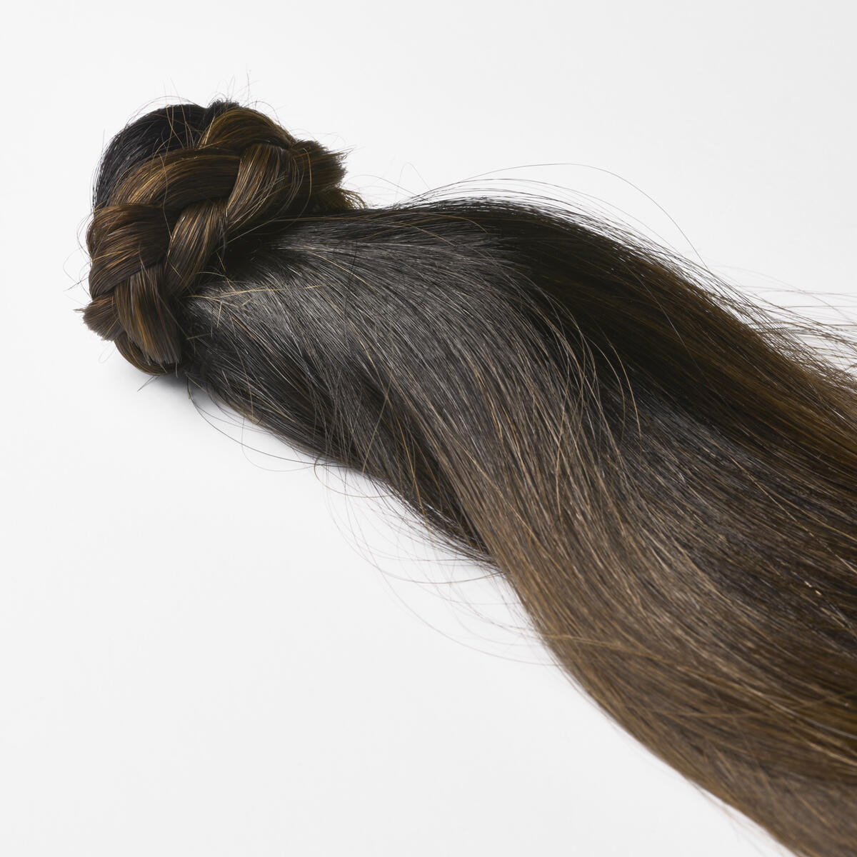 Clip-in Ponytail Ponytail made of real hair C1.2/5.0 Deep Brown ColorMelt 50 cm