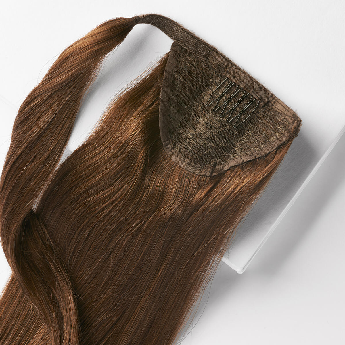 Clip-in Ponytail Ponytail made of real hair 2.0 Dark Brown 30 cm