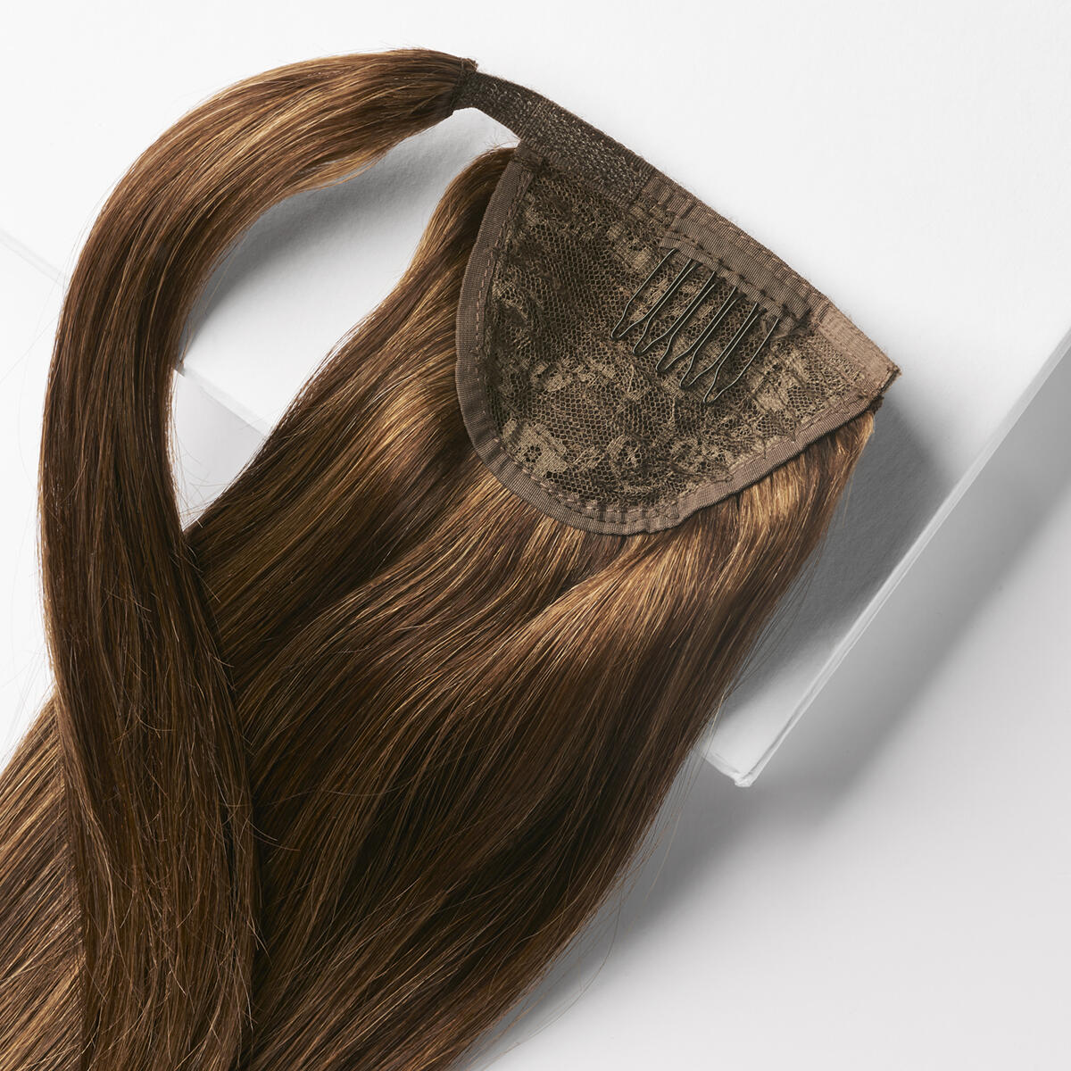 Clip-in Ponytail Ponytail made of real hair M2.3/5.0 Chocolate Mix 50 cm