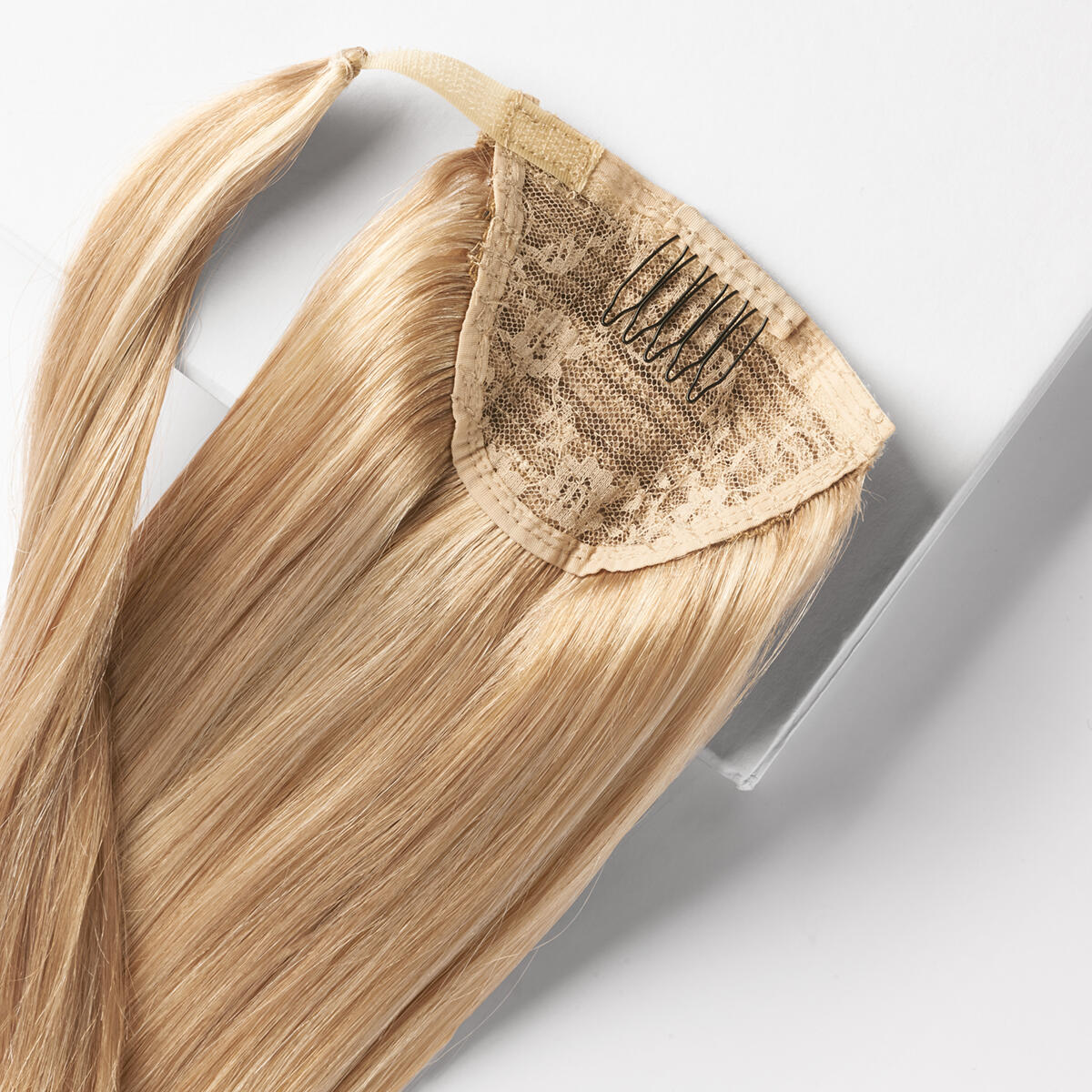 Clip-in Ponytail Ponytail made of real hair M7.4/8.0 Summer Blonde Mix 50 cm