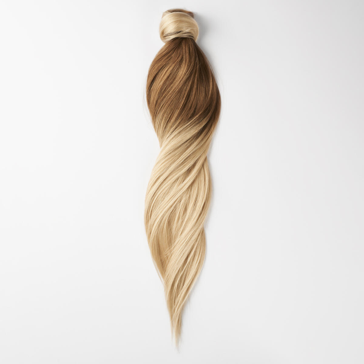 Clip-in Ponytail Ponytail made of real hair O5.1/10.8 Medium Ash Blond Ombre 50 cm