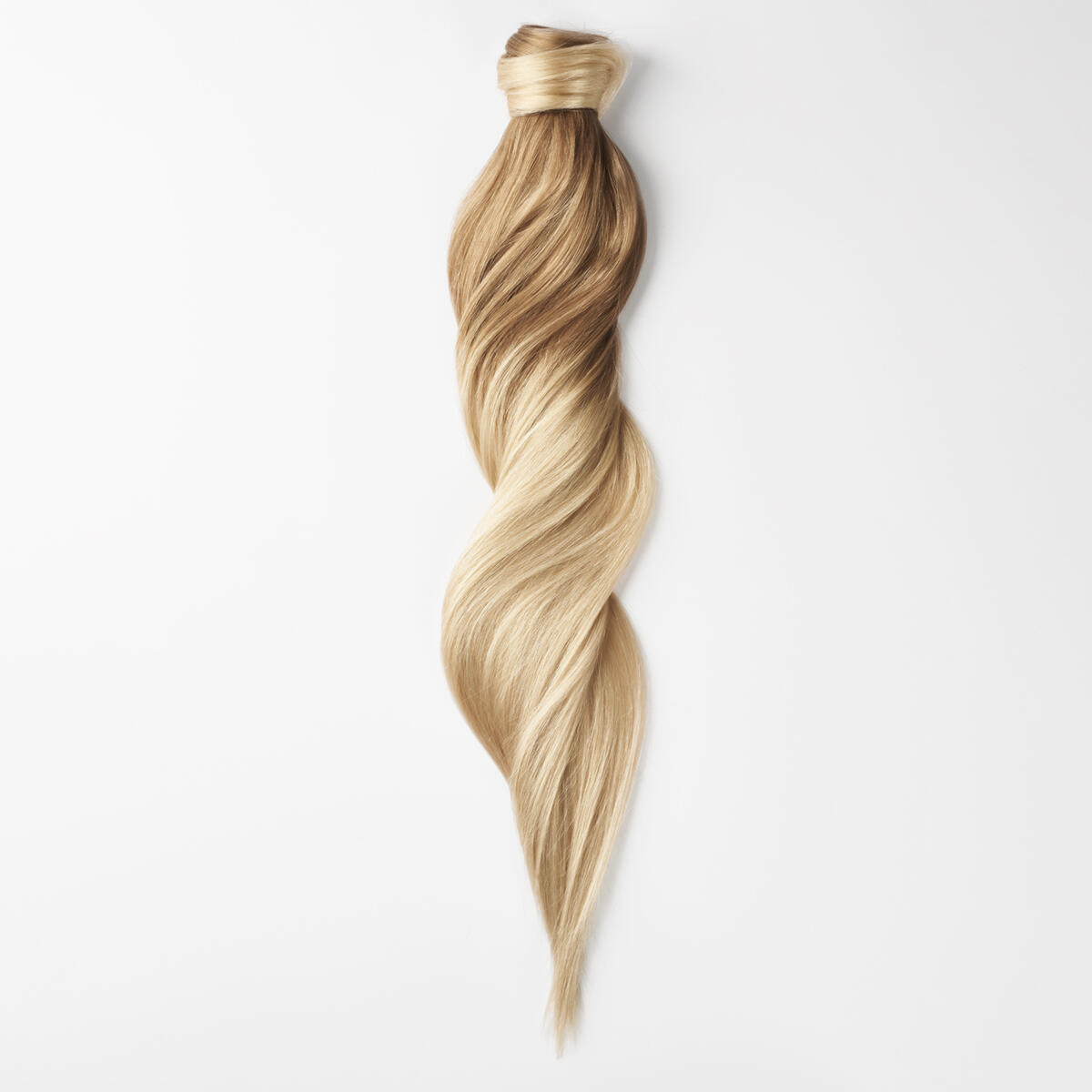 Clip-in Ponytail Ponytail made of real hair O7.3/10.8 Cendre Ash Blond Ombre 40 cm