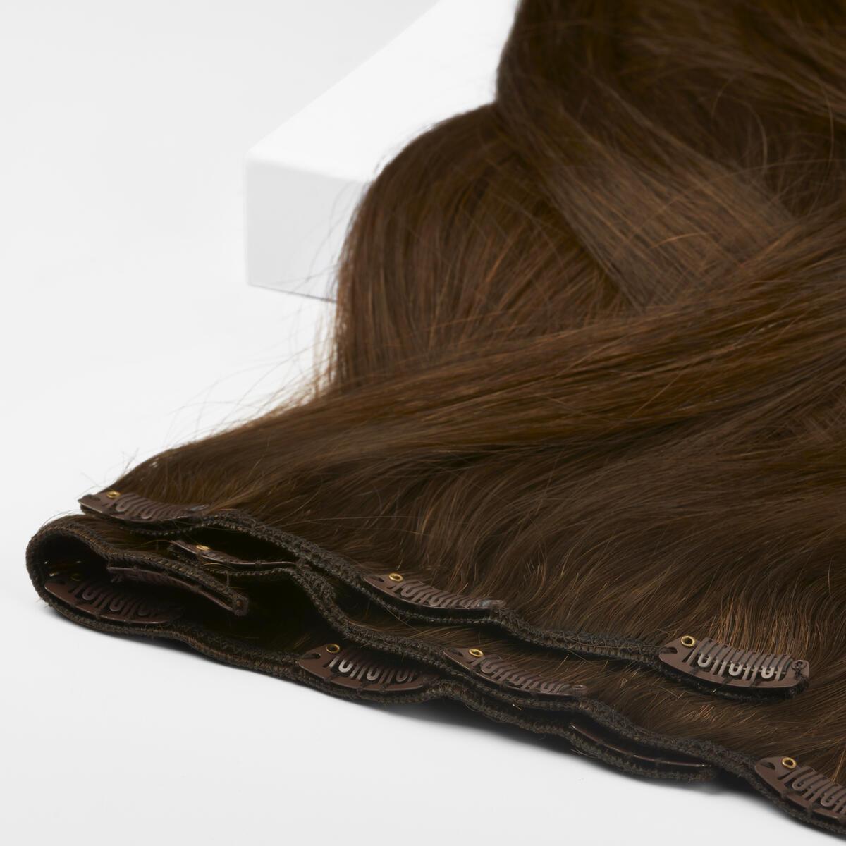 Clip-on set Premium 7 pieces 2.0 Dark Brown 50 cm