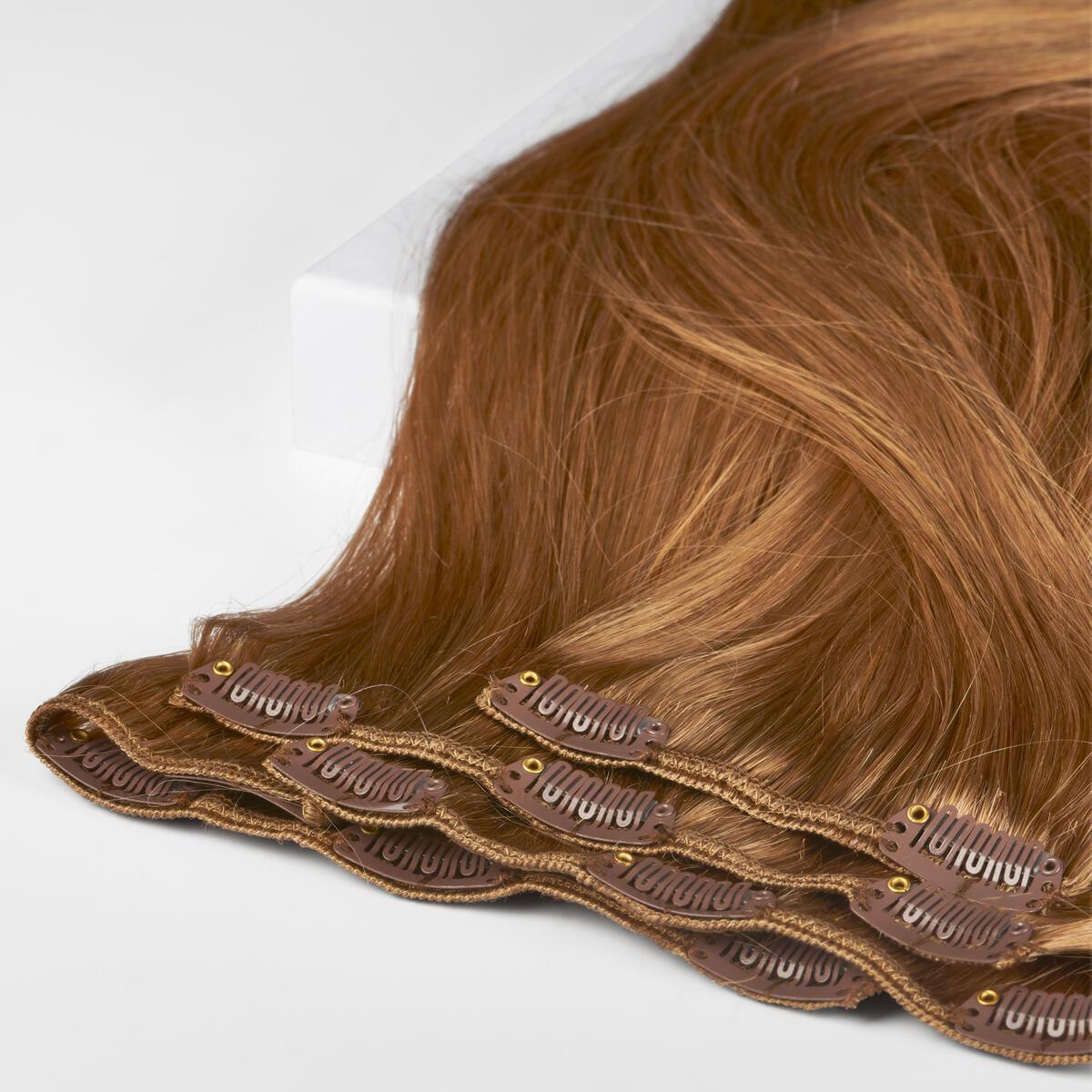 Clip-on set Premium 7 pieces 5.3 Golden Brown 50 cm