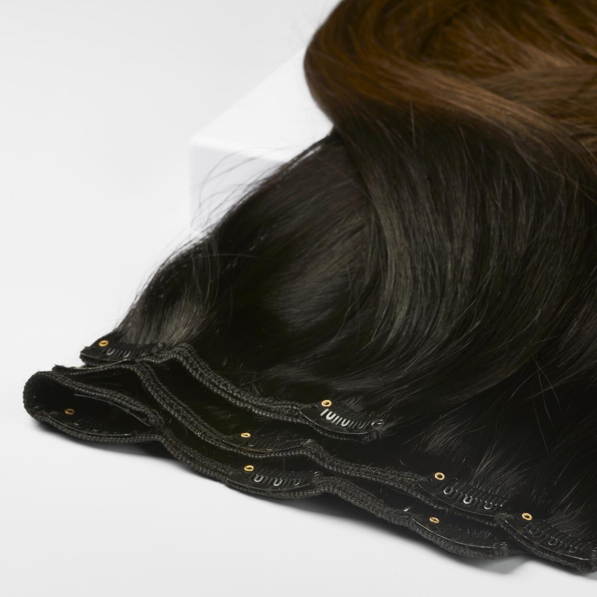 Clip-on set O1.2/2.0 Black Brown Ombre 50 cm