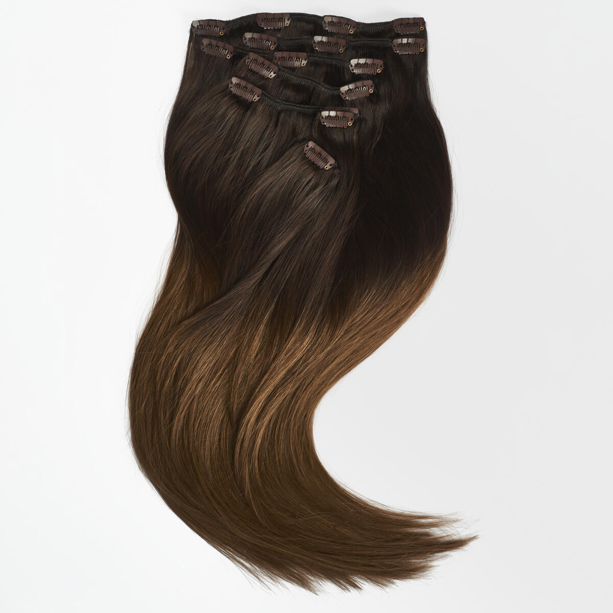 Clip-on set O2.3/5.0 Chocolate Brown Ombre 50 cm