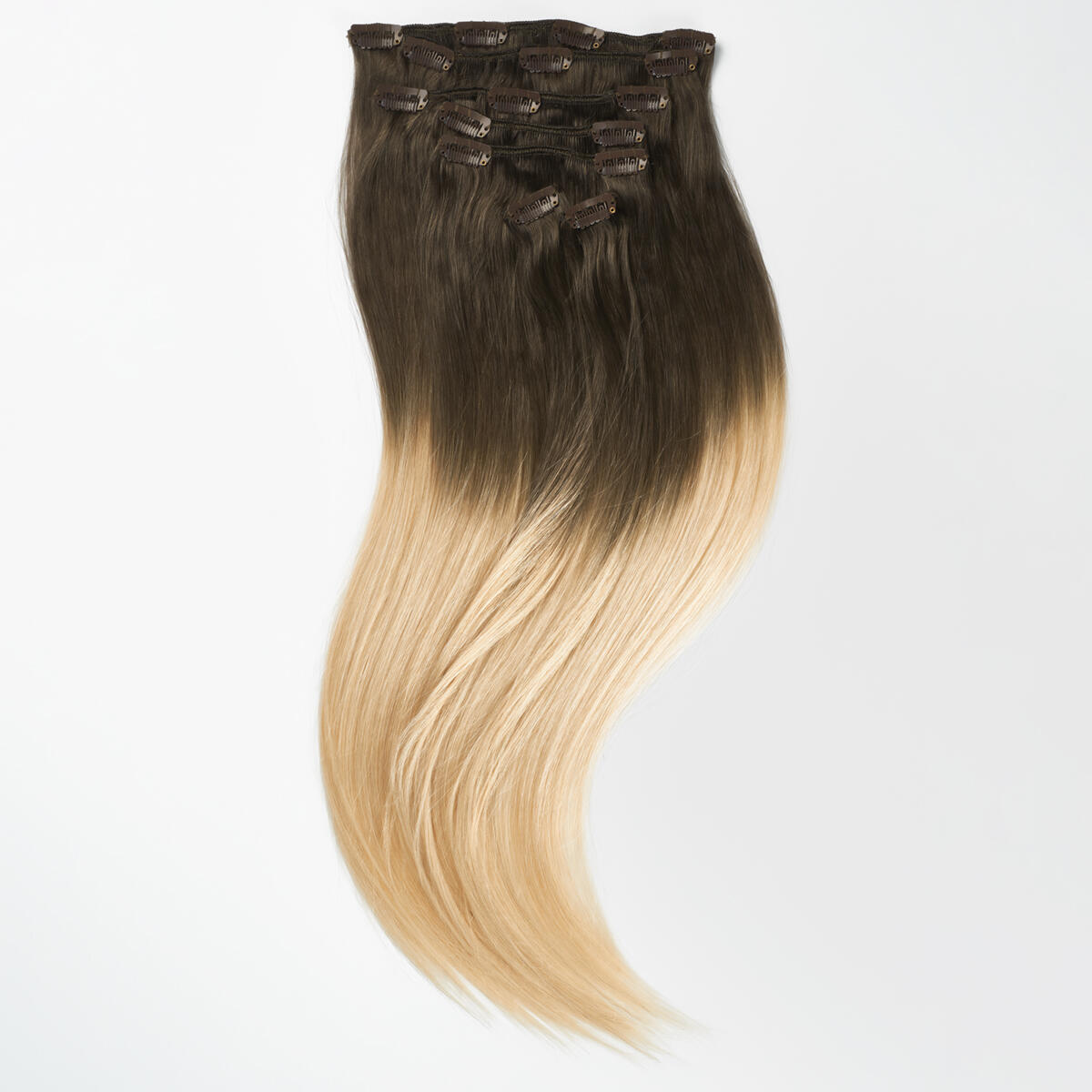 Clip-on set O2.6/8.0 Dark Ash Blond Ombre 50 cm