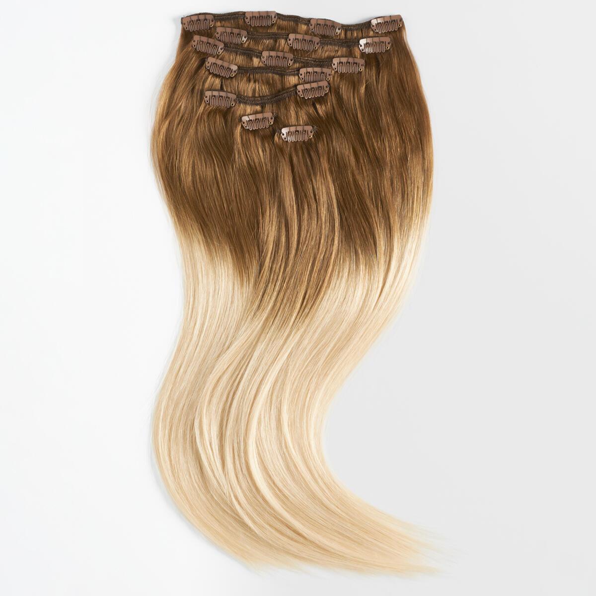 Clip-on set Premium 7 pieces O5.1/10.8 Medium Ash Blond Ombre 50 cm