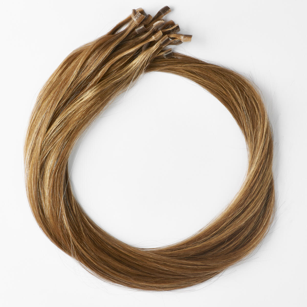 Nail Hair Premium Straight M5.0/7.4 Golden Brown Mix 50 cm