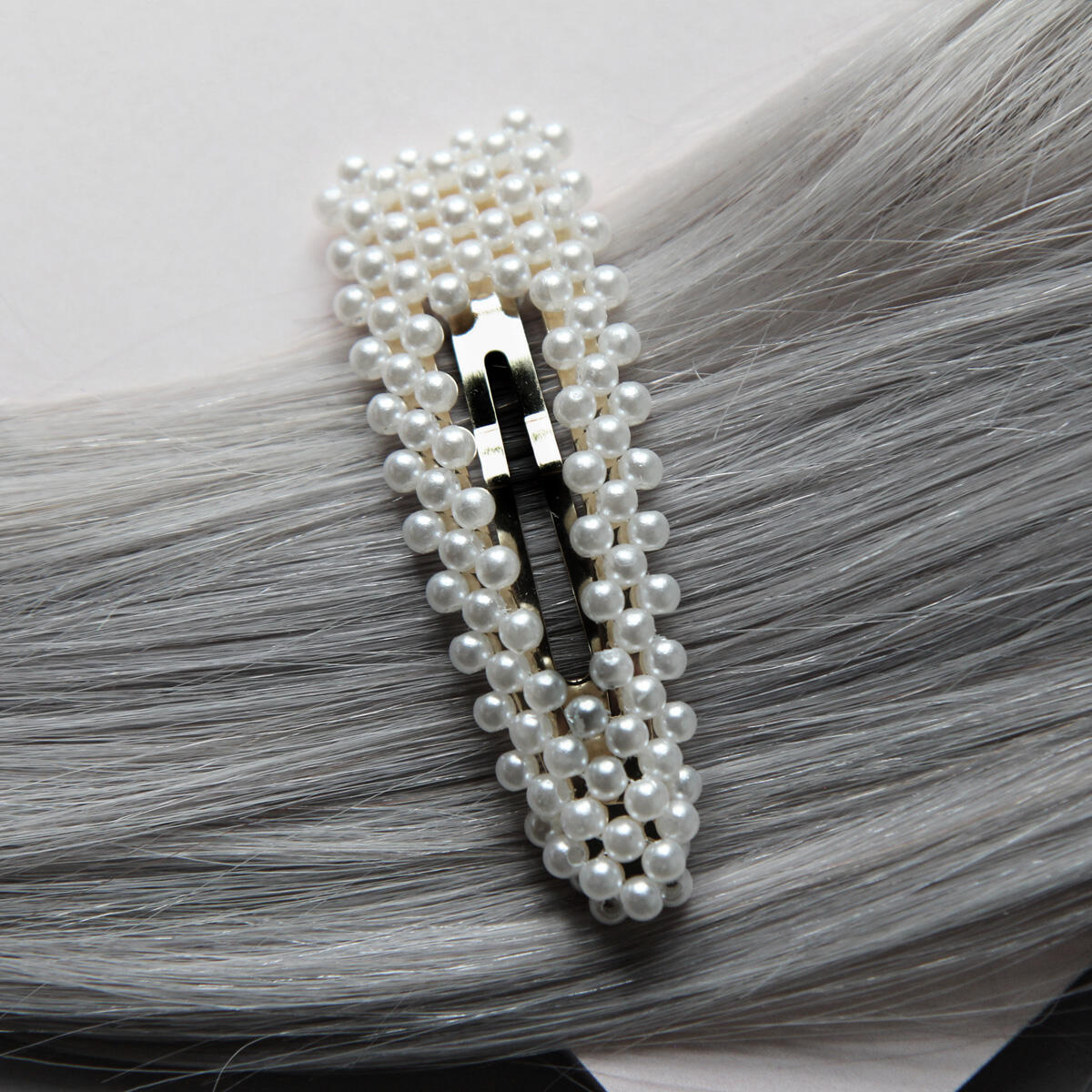 Hair slide with pearls Pearl Collection no. 14 null