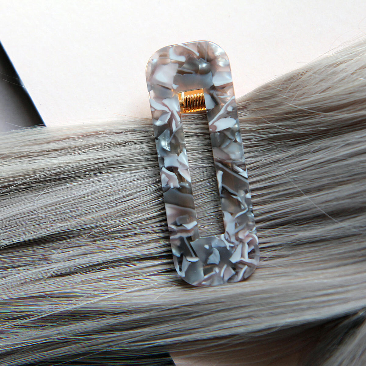 Hair slides with marble effect Pearl Collection no. 1 null
