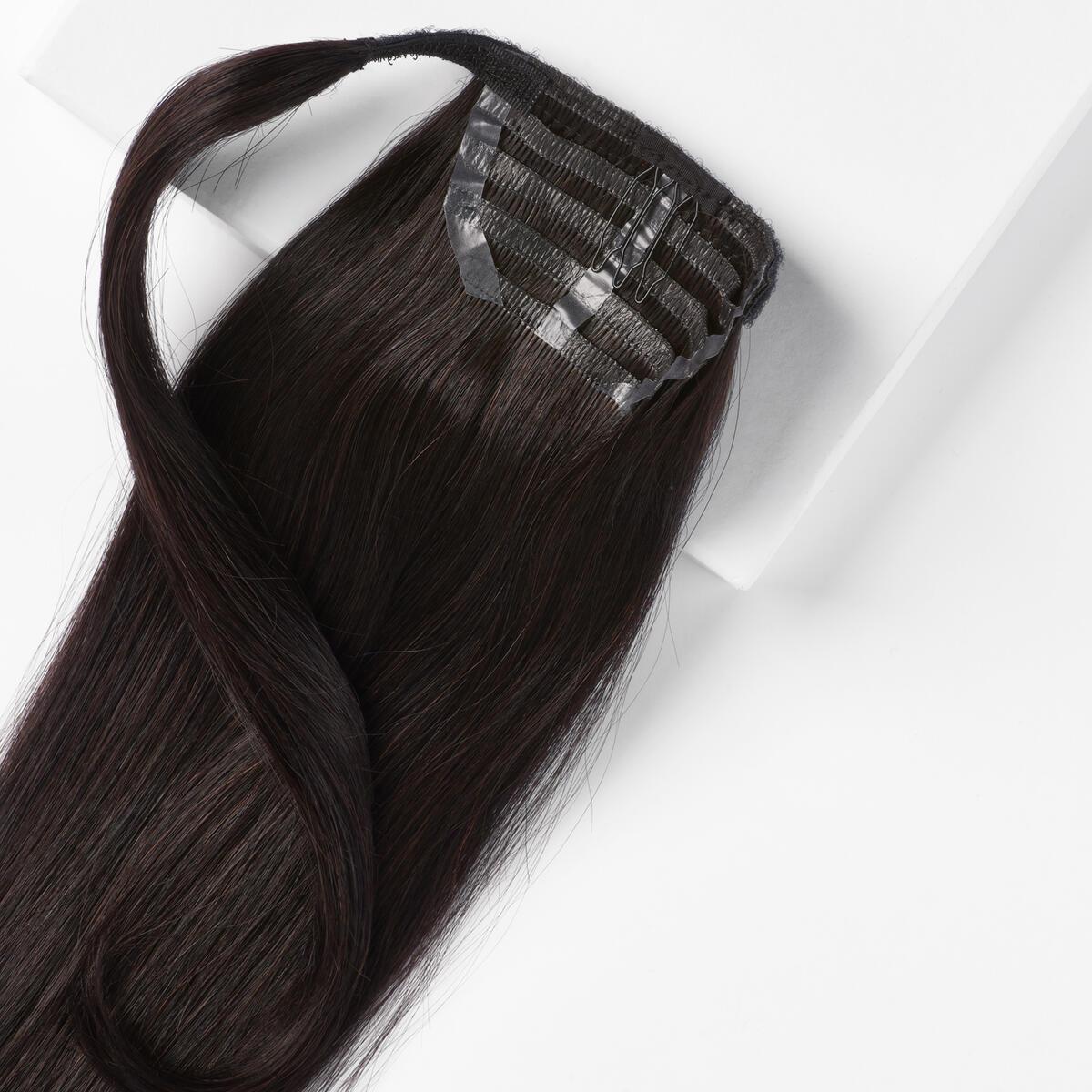 Sleek Clip-in Ponytail 1.2 Black Brown 40 cm