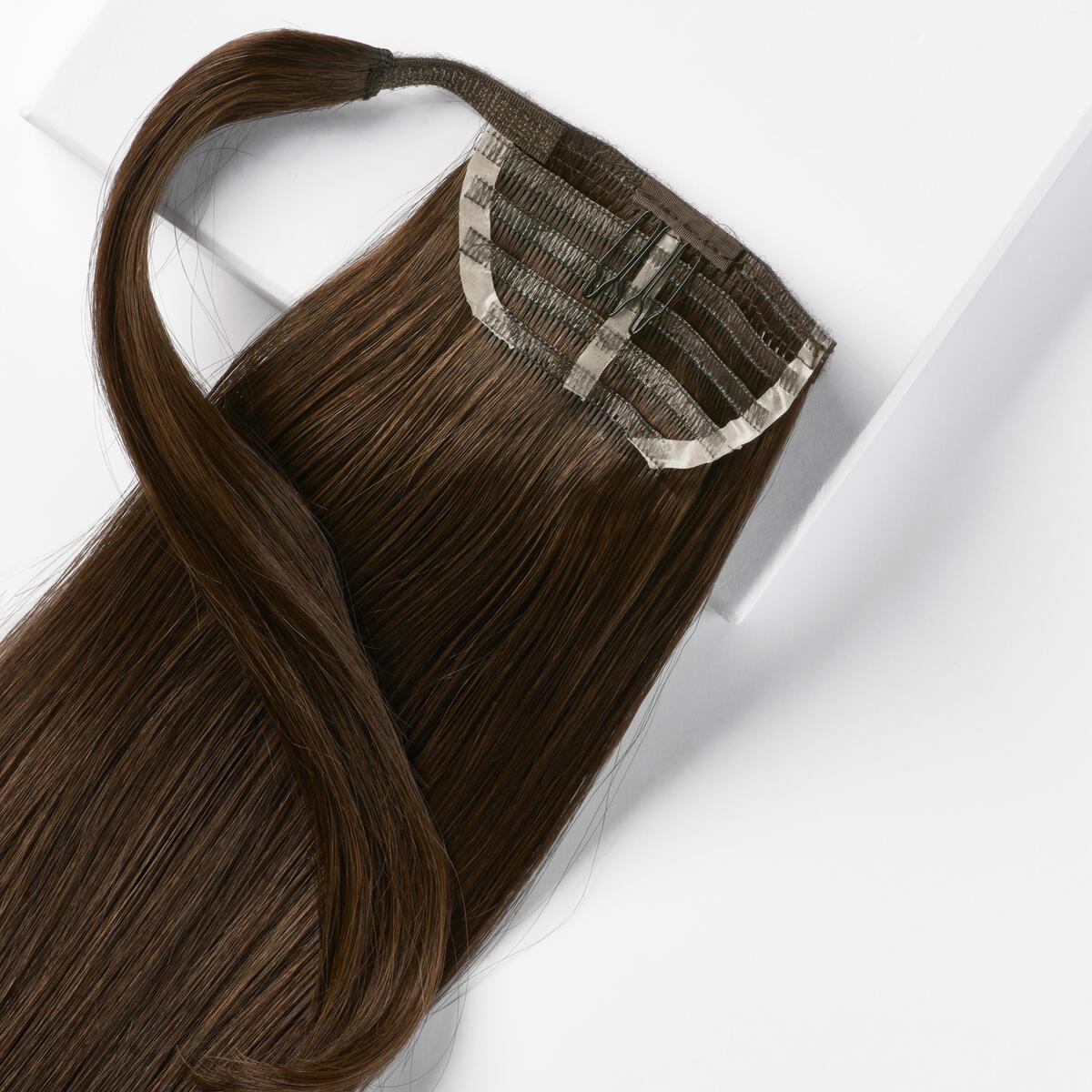 Sleek Clip-in Ponytail Ponytail made of real hair 2.3 Chocolate Brown 50 cm
