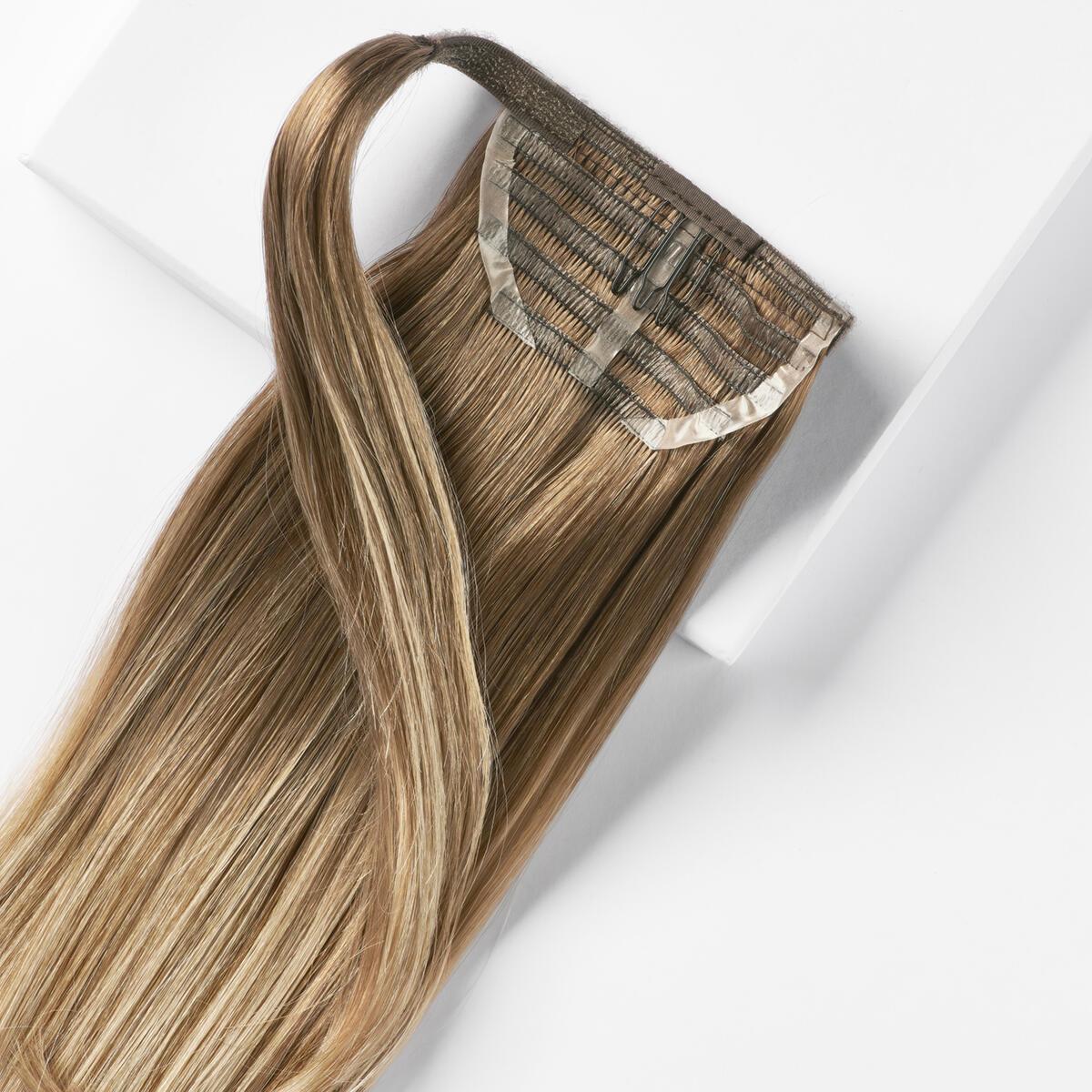 Sleek Clip-in Ponytail B5.1/7.3 Brown Ash Blonde Balayage 50 cm